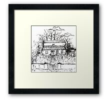 Illustrated Irish Haunted House Framed Print