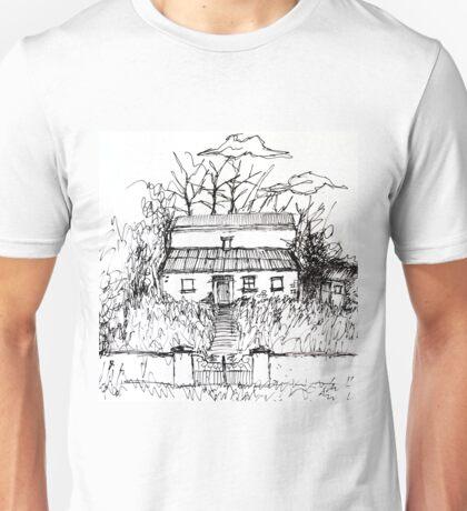 Illustrated Irish Haunted House Unisex T-Shirt