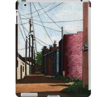 Back Alley-  city street alleyway urban art painting iPad Case/Skin