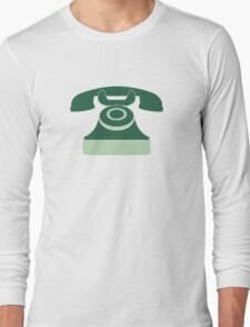 Mint Vintage Telephone Long Sleeve T-Shirt