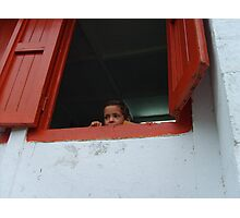 Peeking over the sill. Photographic Print