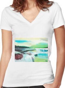Constructing Reality 1 Women's Fitted V-Neck T-Shirt