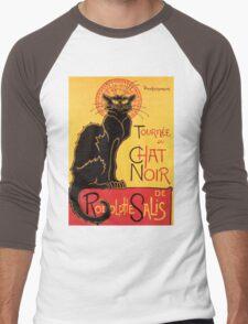 Le Chat Noir Vintage Poster Men's Baseball ¾ T-Shirt