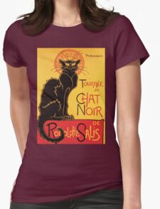 Le Chat Noir Vintage Poster Womens Fitted T-Shirt