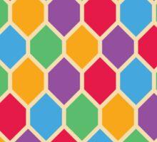 Retro Hexagons Sticker