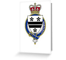 Coat of arms (family crest) for last-name or surname Bartlett (England) . Heraldry banner for your name. Greeting Card