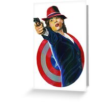 PEGGY CARTER Greeting Card