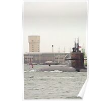 USSN Submarine  leaving Portsmouth 2010  Poster