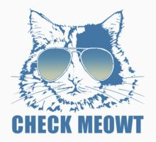 Check Meowt Cat Kids Tee