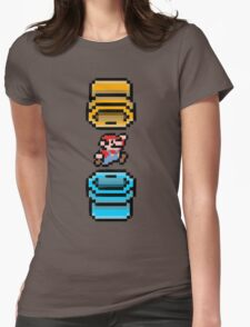 Super Mario Portal Womens Fitted T-Shirt