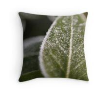 little icicles on little leaf Throw Pillow