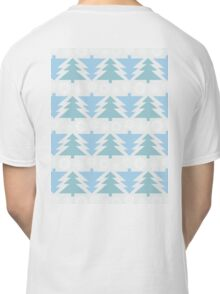 Blue Christmas Trees Classic T-Shirt