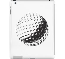 GOLF BALL, SPORT, Golfing, Golf, Black on White iPad Case/Skin