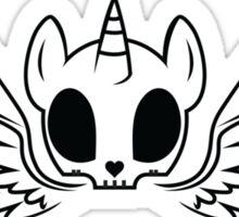 Alicorn Skull Sticker
