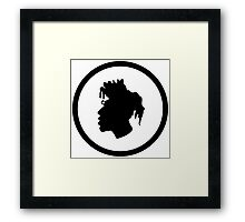 Black Head Logo Framed Print