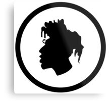 Black Head Logo Metal Print