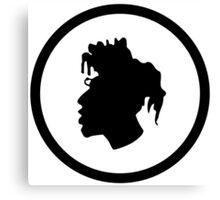 Black Head Logo Canvas Print