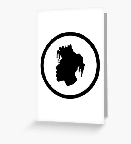 Black Head Logo Greeting Card