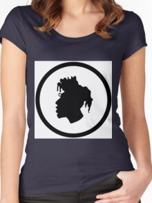 Black Head Logo Women's Fitted Scoop T-Shirt