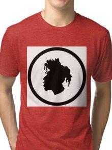 Black Head Logo Tri-blend T-Shirt