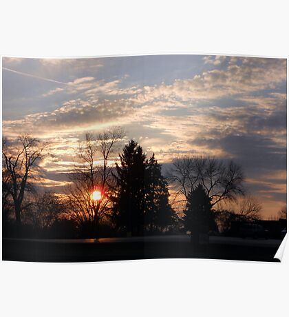 Sunset in the Suburbs Poster