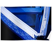 Blue Boat, White Gunnel Poster