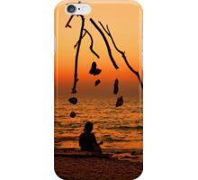 Chryssi island after sunset iPhone Case/Skin