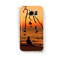 Chryssi island after sunset Samsung Galaxy Case/Skin