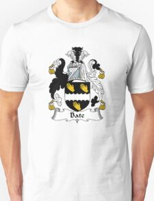 Coat of arms (family crest) for last-name or surname Bate or Bates . Heraldry banner for your name. T-Shirt