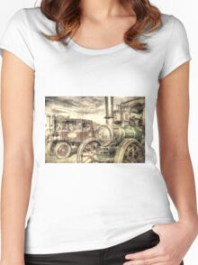 Traction Engine and Steam Lorry Vintage Women's Fitted Scoop T-Shirt