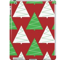 Red & Green Christmas Trees iPad Case/Skin