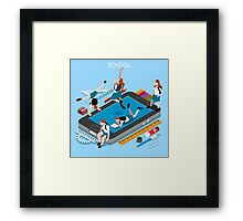 School Devices Smartphone Framed Print