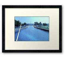 Welland Ship Canal Framed Print