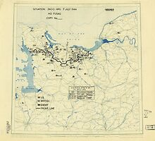 World War II Twelfth Army Group Situation Map July 7 1944 by allhistory