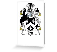 Coat of arms (family crest) for last-name or surname Batt . Heraldry banner for your name. Greeting Card