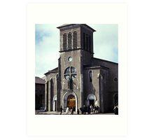 Church, St. Pierre and Miquelon Art Print