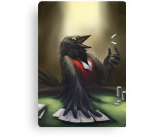 Crow player Canvas Print