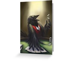 Crow player Greeting Card