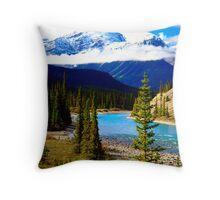 Saskatchewan River Blues Throw Pillow
