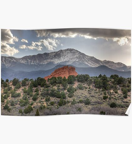 Pike's Peak and Garden of the Gods Poster