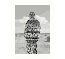 Jesse Pinkman Quotes Art Print