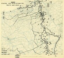 World War II Twelfth Army Group Situation Map October 23 1944 by allhistory