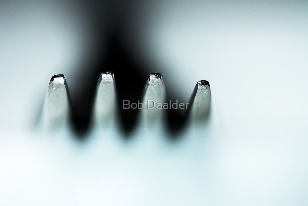 A fork floating... by Bob Daalder