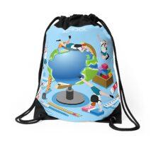 School Chancellery Set Drawstring Bag