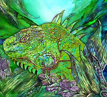 Iguana Cool by Carol  Cavalaris