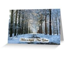 Lane Through Snowy Woods - Bright New Year Greeting Card