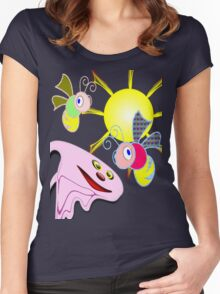 Spooky & Friends, T-shirt, etc. design Women's Fitted Scoop T-Shirt