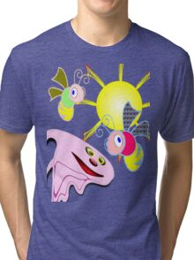 Spooky & Friends, T-shirt, etc. design Tri-blend T-Shirt