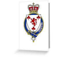 Coat of arms (family crest) for last-name or surname Beamish (Ireland) . Heraldry banner for your name. Greeting Card