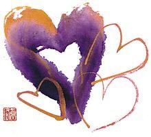 Purple Hearts Photographic Print